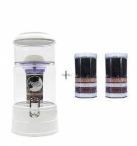 Einsteigerpaket AcalaQuell Mini -weiß -Kristallklar +handgefertigtem Glastank - Bild vergrößern