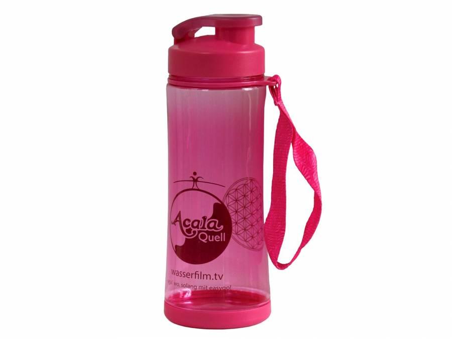 Tritan Trinkflasche easygo pink  mit Klappdeckel